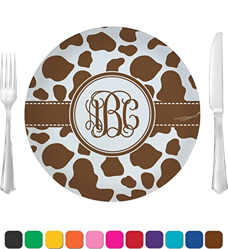Cow Print Dinner Plate (Personalized)  sc 1 st  Amazon.com & Amazon.com | Cow Print Dinner Plate (Personalized): Dinner Plates