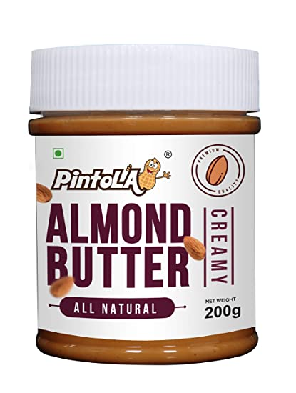 Pintola All Natural Almond Butter, Creamy, 200g