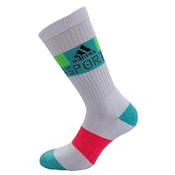 Adidas Stella Sport Crew 1 par Calcetines, Mujer, Stellasport Crew Socken 1 Paar, White/Flared/Joygrn, 34-36: Amazon.es: Deportes y aire libre