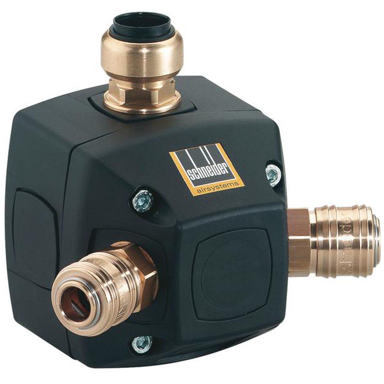 SCHNEIDER Endverteilerdose RLD BT fü r 18 mm, Luftrohr und 2 Schnellkupplungen, E818245 BLUM