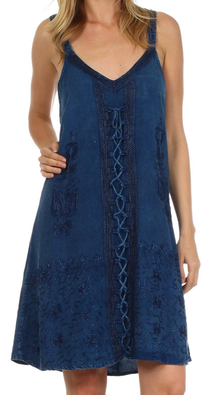 Sakkas Jayanti Embroidered Rayon Dress