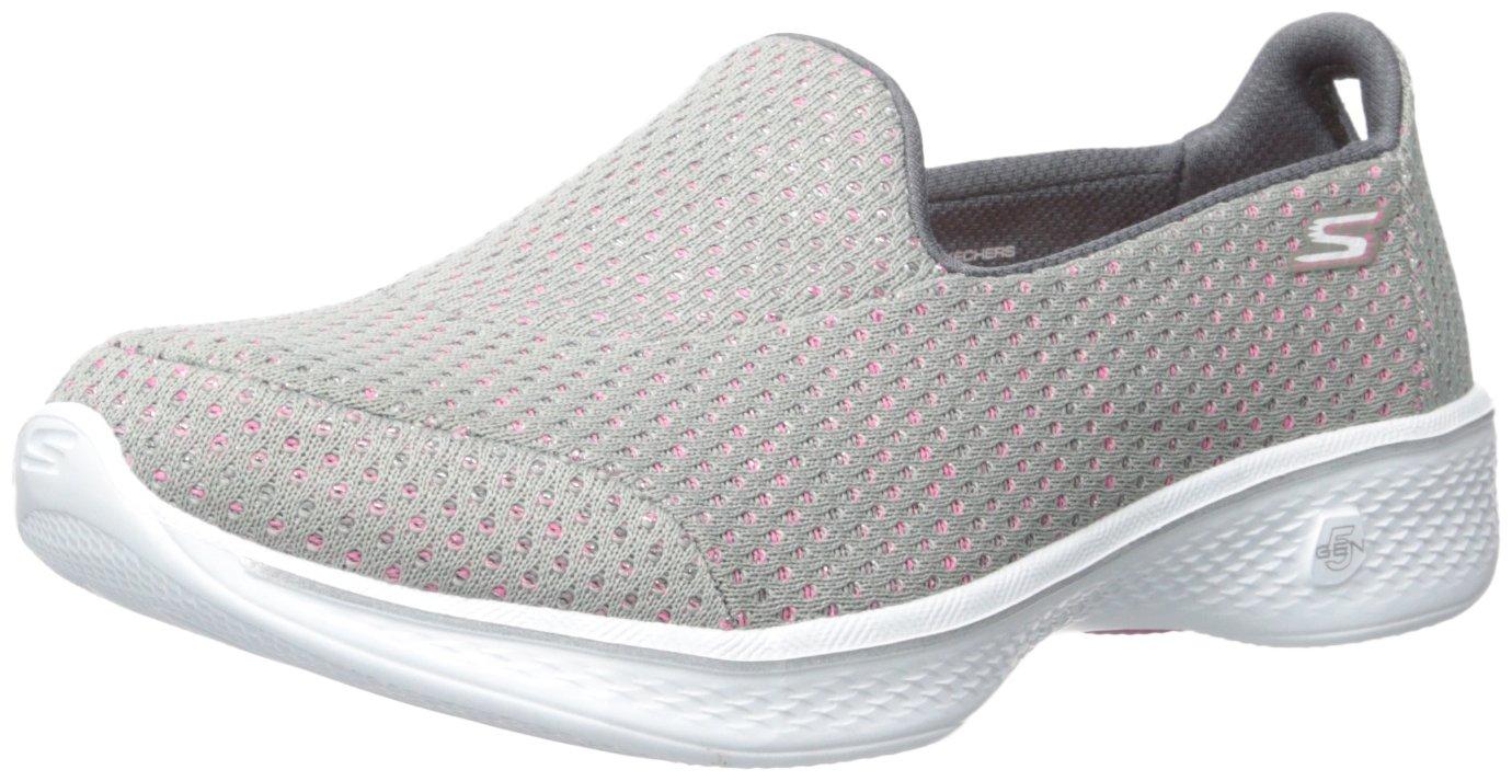 Skechers Performance Women's Go Walk 4 Kindle Slip-On Walking Shoe,Gray/Pink,9 M US