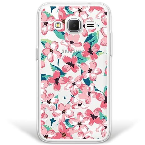 WoowCase Funda Samsung Galaxy Core Prime, [Hybrid] Flores ...