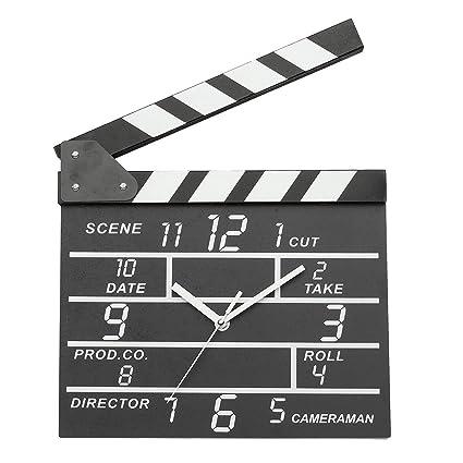 EsportsMJJ Cine Película Pizarra Forma Analógica Reloj De ...