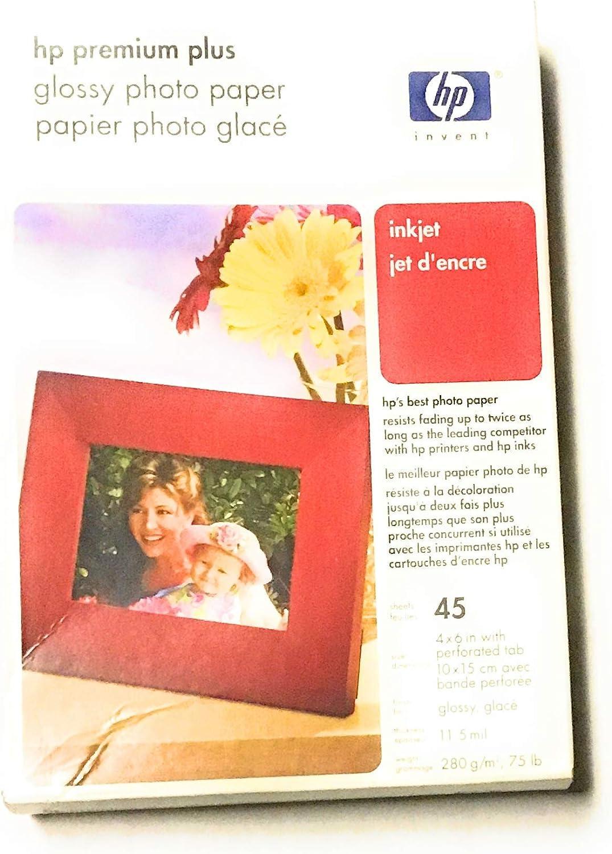 HP Premium Plus 4x6-Inch High Gloss Photo Paper (60-Sheets)