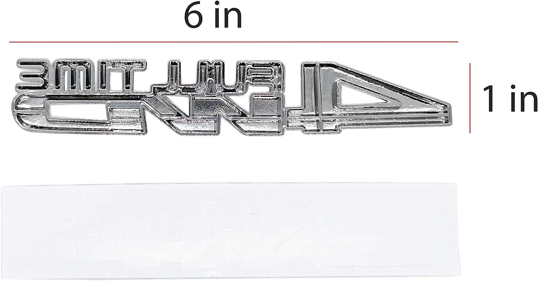 SUKRAGRAHA Universal 6 inch 4 Wheel Drive 4WD Full Time Car Decal 3D Emblem Decor Black