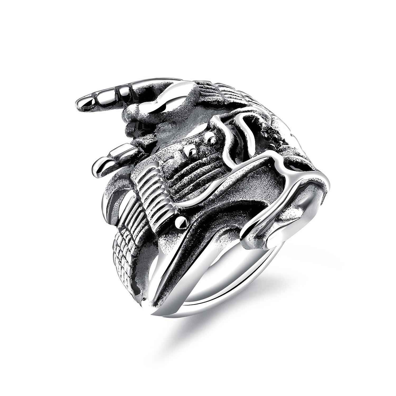 AnazoZ Jewelry Stailess Steel Silver Black Punk Rock Hip Hop Guitar