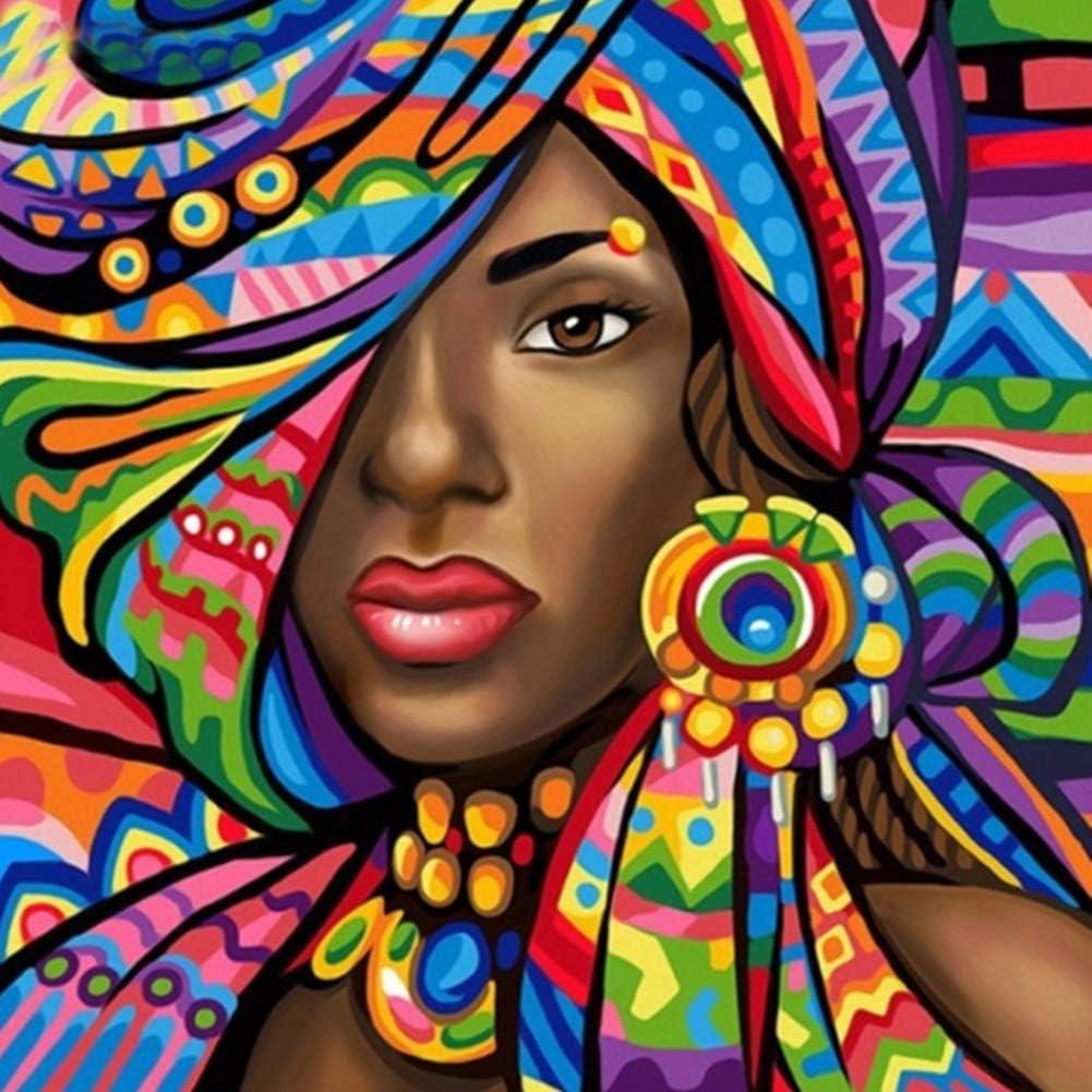 Ahomi DIY 5D Pintura de Diamante Taladro Completo Graffiti Mujer Punto de Cruz Bordado