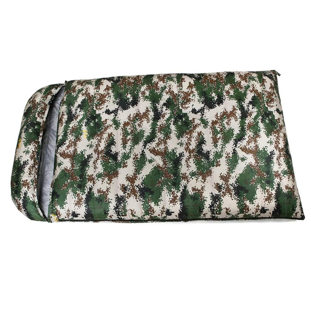 スリーピングバッグ、ダブルパーソン軽量睡眠バッグ愛好家防水キャンプ睡眠袋屋内昼食休憩スリーピングパッド,Camouflage,1000g B07MMKY582 Camouflage 800g 800g Camouflage