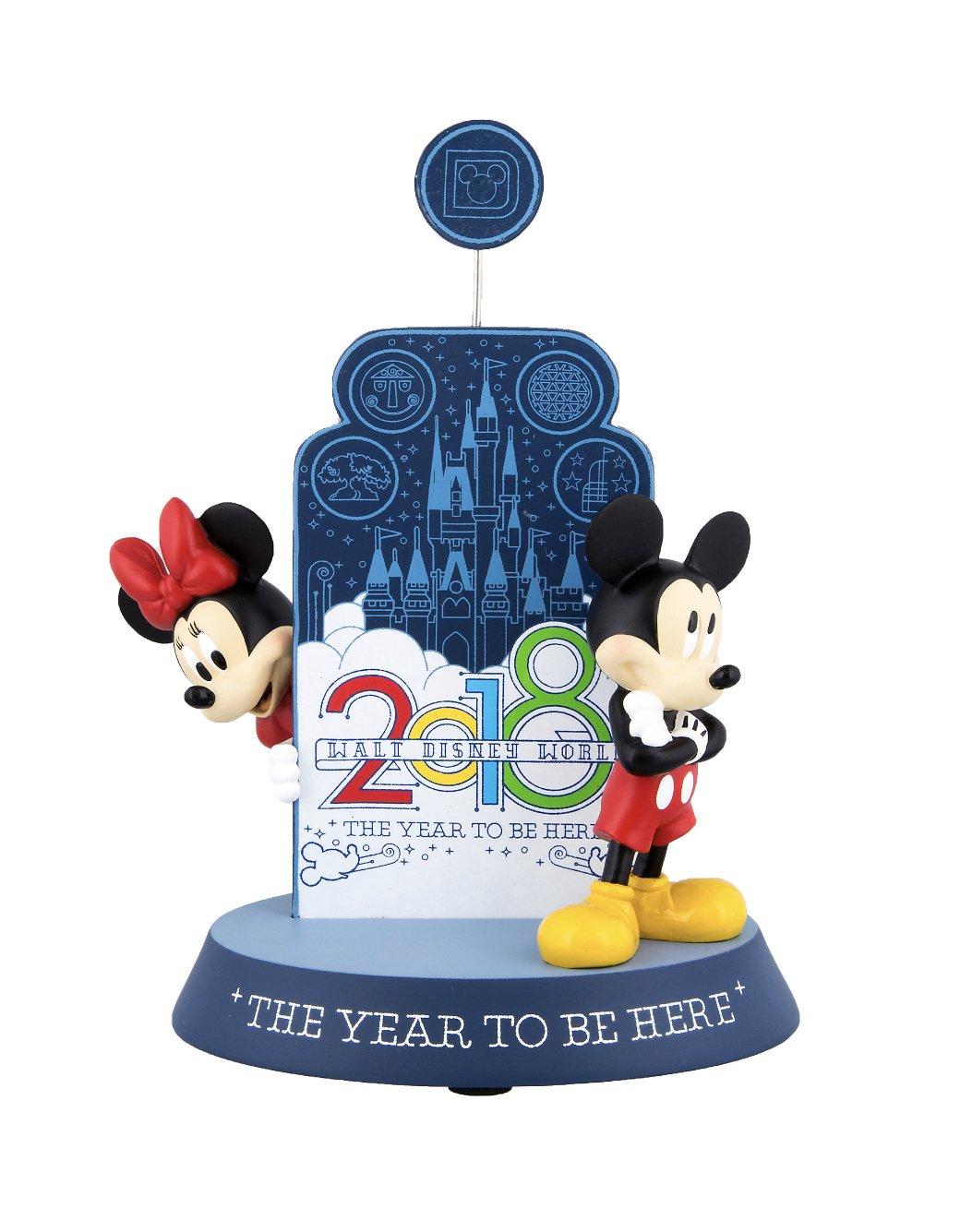 DisneyParks Walt Disney World 2018 Mickey Minnie Mouse Figurine Clip Frame