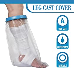 Wilsco Adult Waterproof Leg Cast Cover For Shower ~ Keep Bandages U0026amp;  Casts Dry In