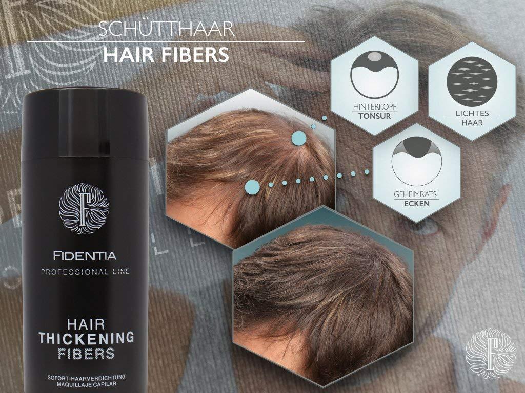 Fidentia Hair - Fibras Capilares para disimular la caída de cabello, 10g Castaño Oscuro - Dark Brown: Amazon.es: Belleza