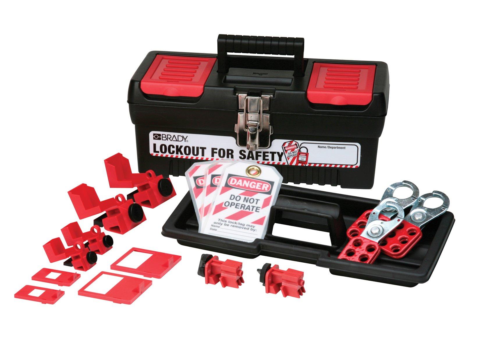 Brady Personal Breaker Lockout Toolbox Kit, Padlocks Not Included by Brady