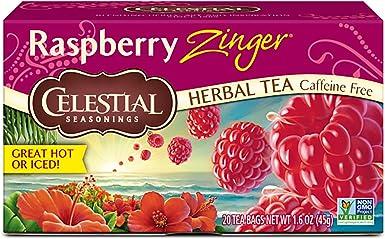 Celestial Seasonings Raspberry Zinger Herbal Tea, 20 Count (Pack ...