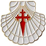 pin / badge scallop with st. james cross