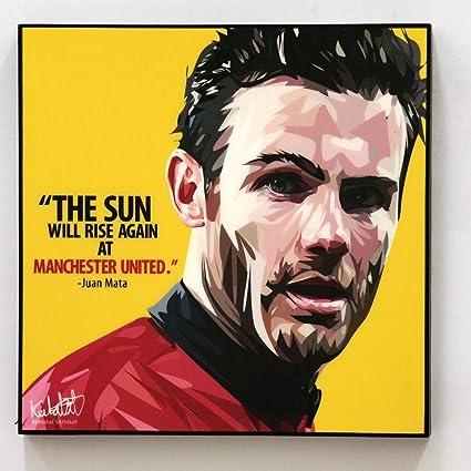 Juan Mata Manchester United Mu Poster Wall Art Decals Quotes Glossy ...