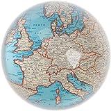 Sass & Belle - Fermacarte in vetro, stile vintage, motivo: cartina geografica, multicolore