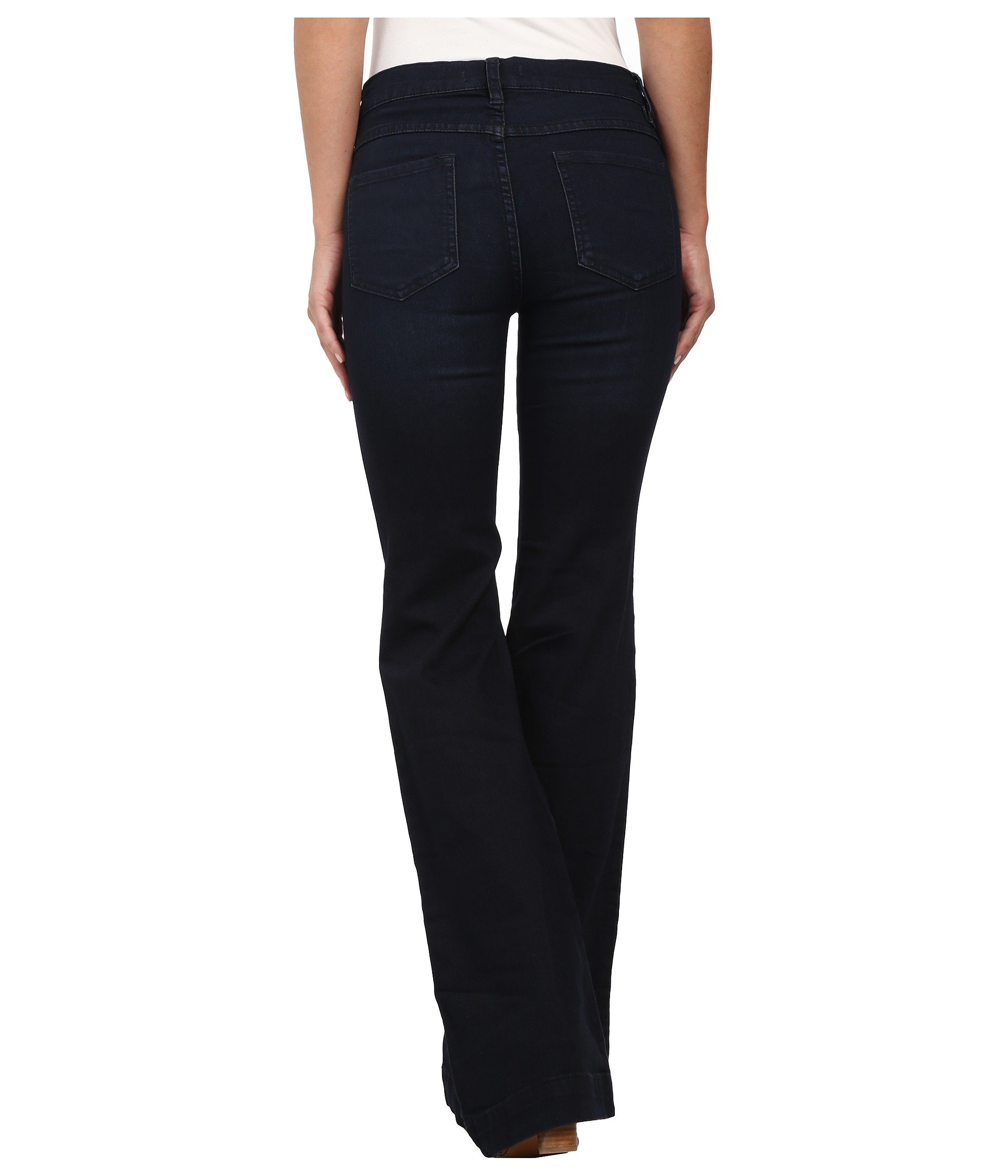Free People Womens Denim Flare Flare Jeans Blue 24 by Free People (Image #4)