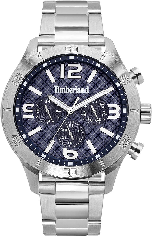 Timberland stranton Reloj para Hombre Analógico de Cuarzo con Brazalete de Acero Inoxidable TBL.15358JS-03M