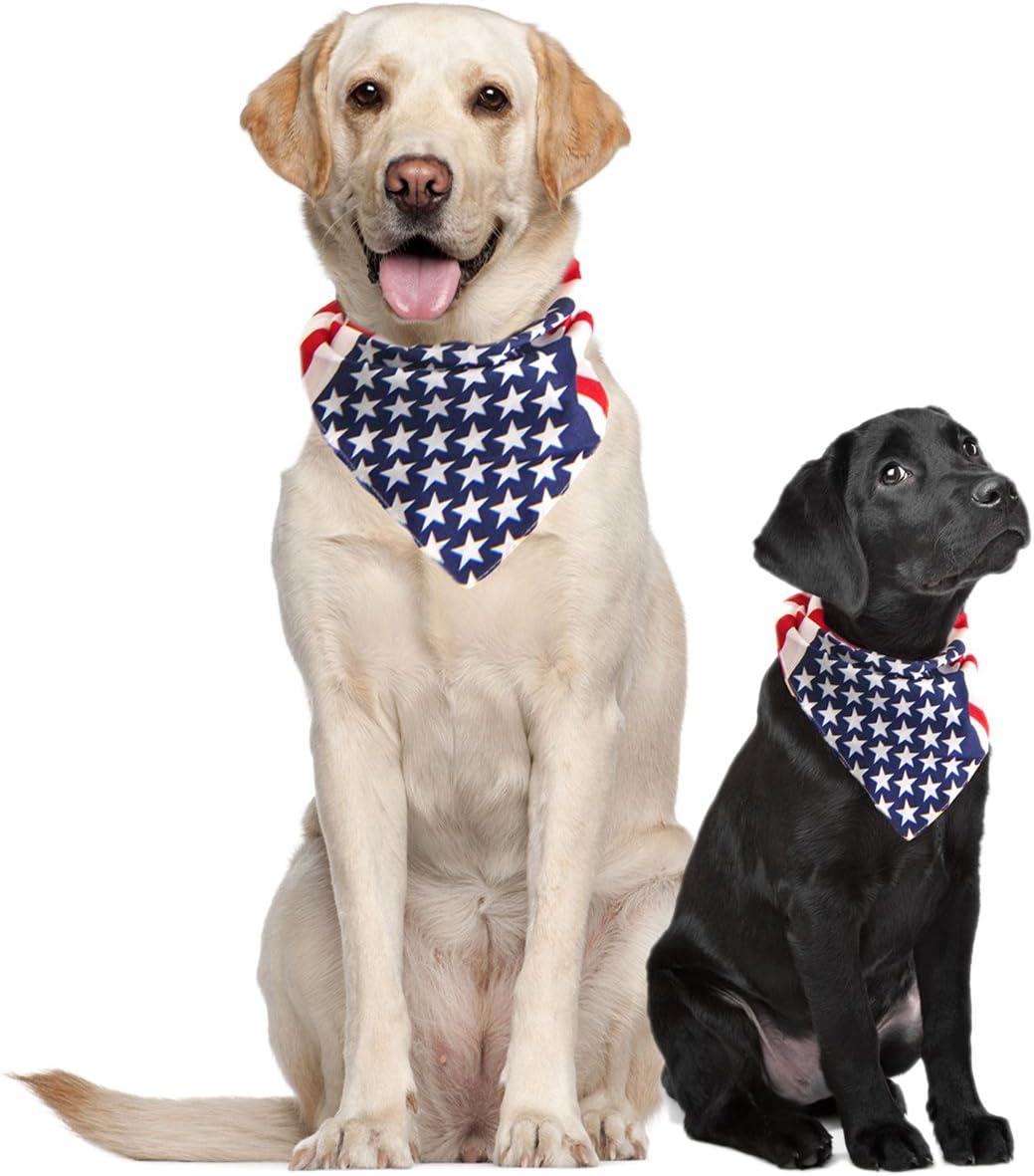 Costume Adventure EE.UU. Pañuelo para Perros Pañuelo Grande de la Bandera Americana Americana Perro con pañuelos de la Bandera para los Perros pañuelos para Perros Grandes Media o Collar tamaño: Amazon.es: Productos