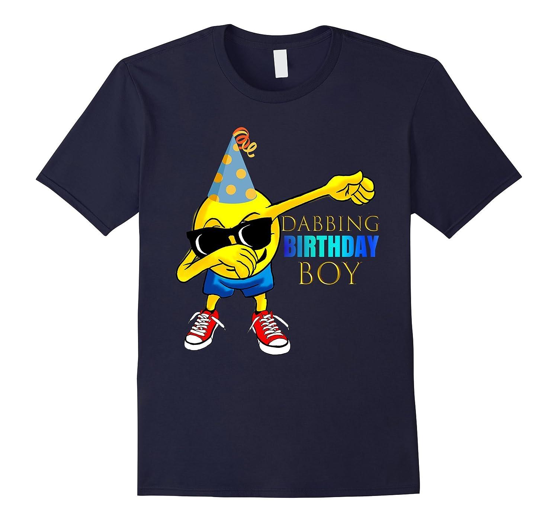 COOL: DABBING Emoji Birthday Shirt For Boys Gift Idea-RT