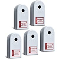 ZirconLeakAlertWaterLeakDetector & Flood Sensor Alarm / WaterLeakSensor with DualLeakAlarms 90dB Audio / Battery Powered (5 Pack) Batteries Included
