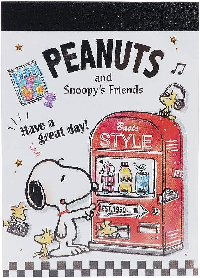 Kamio Snoopy mini memo pad Flowers