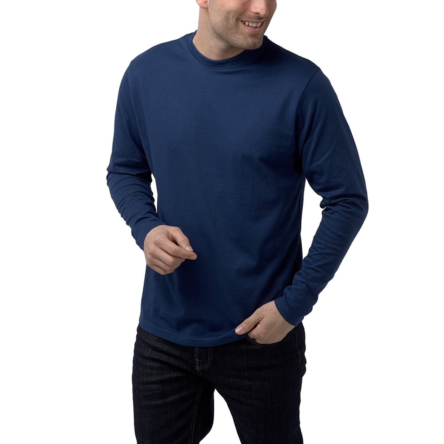 Charles Wilson Long Sleeved Plain Crew Neck T-Shirt