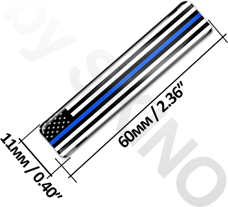 4 x Thin Blue Line USA American Flag Stickers F 59
