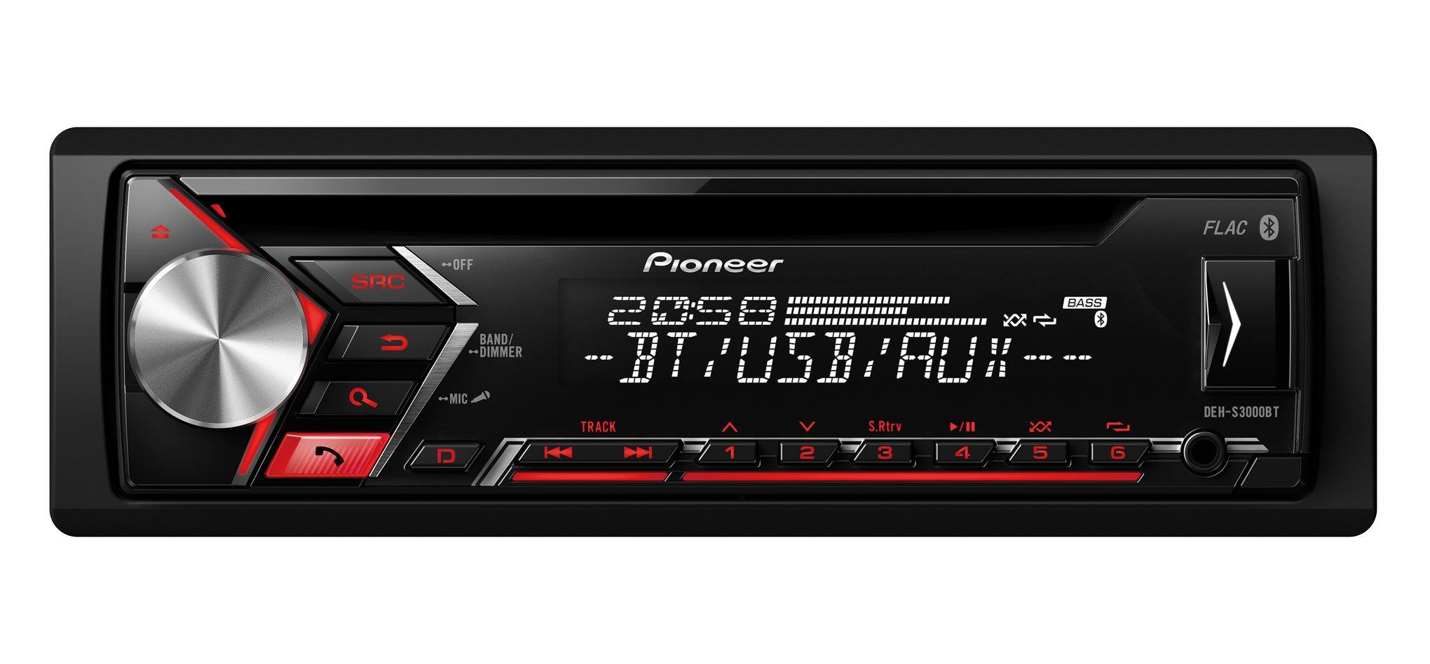 Pioneer DEH-S3000BT Autorradio Negro product image