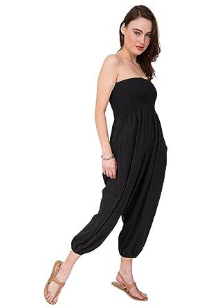 af45fdb07cbb likemary 2 in 1 Cotton Harem Trouser Bandeau Jumpsuit  Amazon.co.uk   Clothing