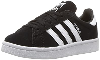 promo code ff48a fe651 adidas Originals Boys  Campus C Sneaker, Black White, 1 Medium US Little Kid