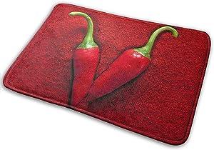 Zoe Diro Hottest Peppers Chili Entrance Door Mat Bath Floor Home Non Slip Doormat Offices Rug Kitchen Bathroom Carpet Decor 15.7x23.6 in