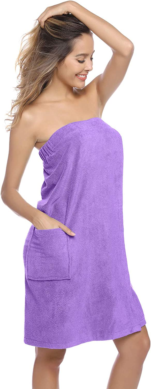 Toalla de sauna para mujer con cierre de velcro Zexxxy