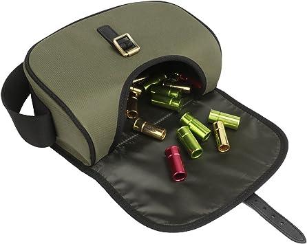 capacidad para 100 cartuchos Bolsa de nailon y piel para cartuchos de escopeta Tourbon 600D color verde