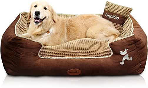 Furhaven HappierGo Waterproof Orthopedic Large Dog Bed with Corn Pillow and Removable Cover