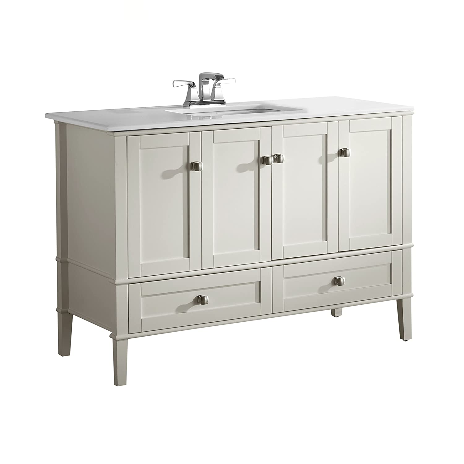 Simpli Home NLHHVA Chelsea Bath Vanity With White - Bathroom vanities 48 inch single sink