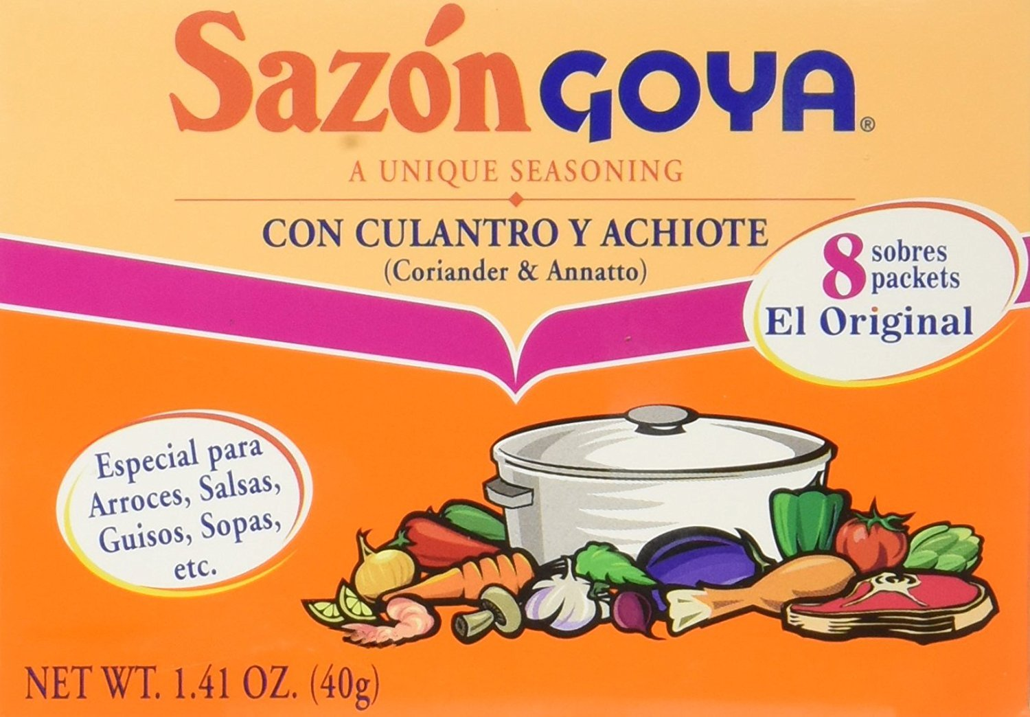 Goya Sazon Culantro/Achiote 1.41 oz (Pack of 10)