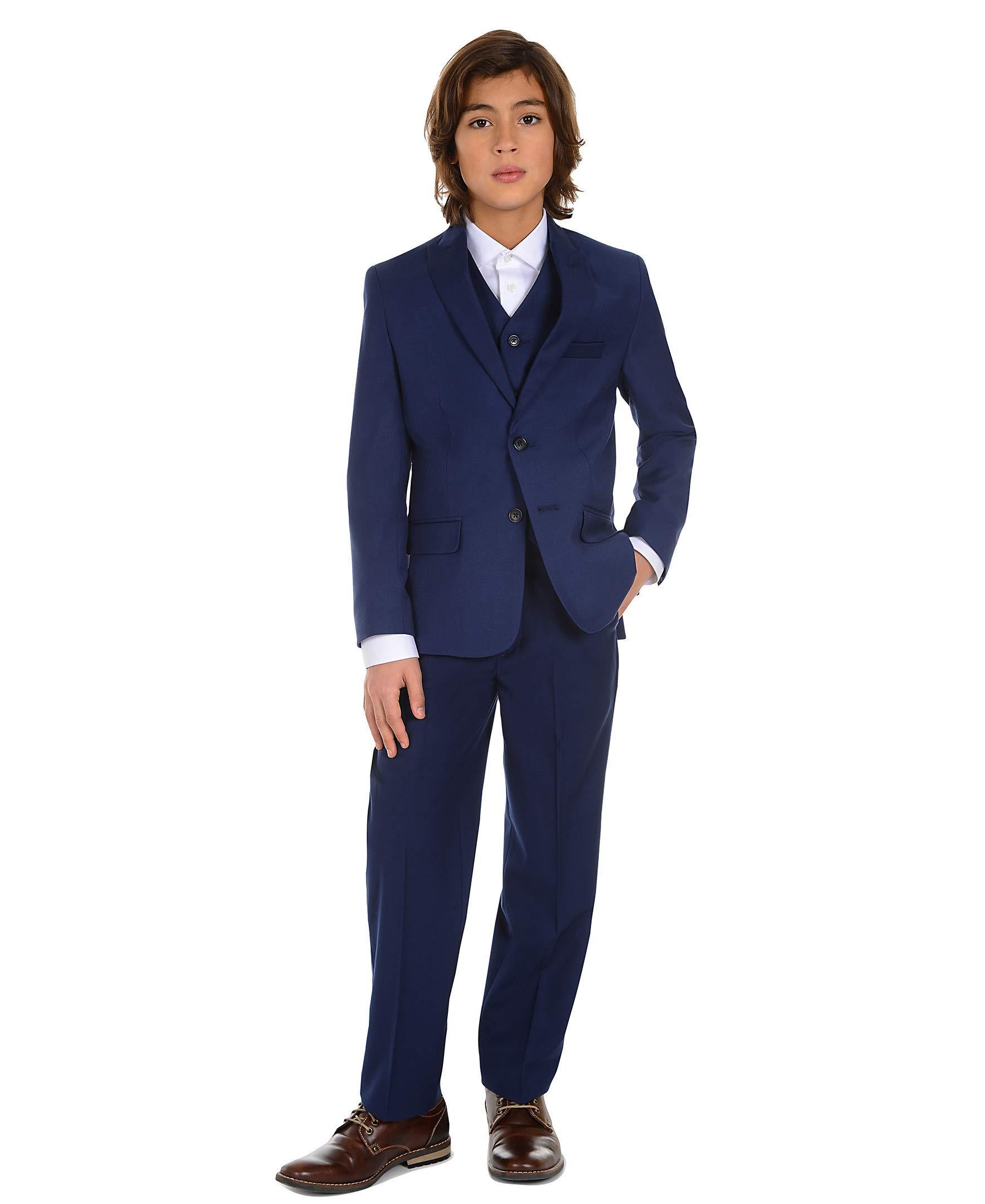Calvin Klein Big Boys' Flat Front Dress Pant, Infinite Blue, 10 by Calvin Klein (Image #5)