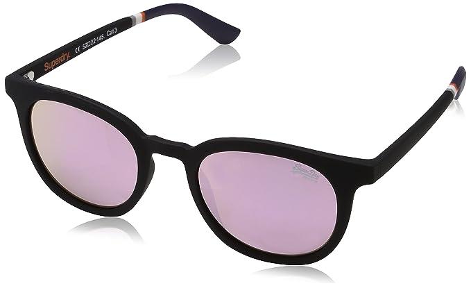 Superdry Cassie, Montures de Lunettes Femme, Multicolore (Rubberised Black/Pink Mirror), 55