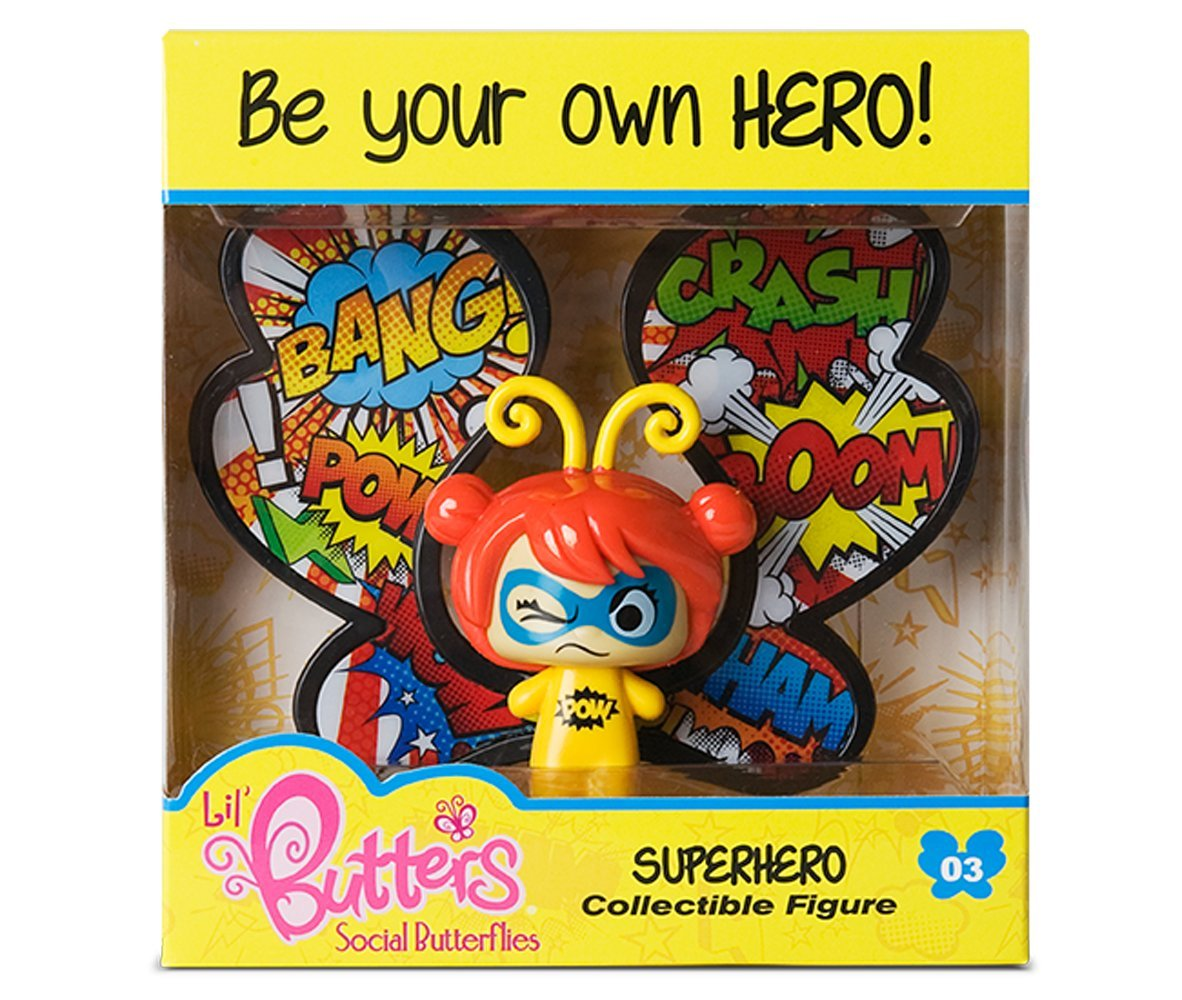 Superhero Snap Toys Lil Butters Social Butterflies Collectible Figures Series 01