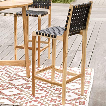 Amazon Com Vivaterra Teak And Recycled Rubber Outdoor Bar