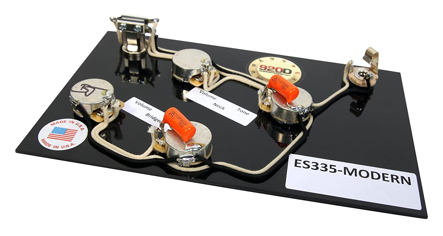 Prewired Es 335 Wiring Harness For Gibson Cts Switchcraft Orange 355 Diagram Drop Modern Musical Instruments