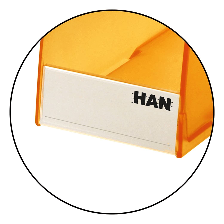 HAN Stehsammler TWIN modern standfest transluzent-klar DIN A4//C4