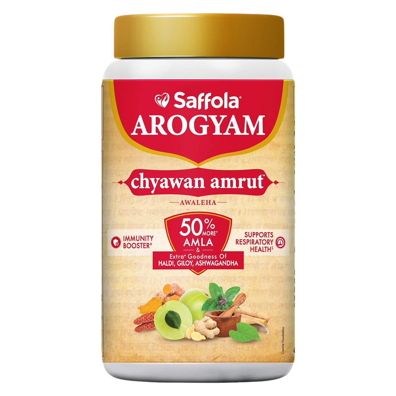 Saffola Arogyam Chyawan Amrut Awaleha 1.25 kg-Immunity Booster for all ages-Goodness of Chyawanprash, Ayush Kwath