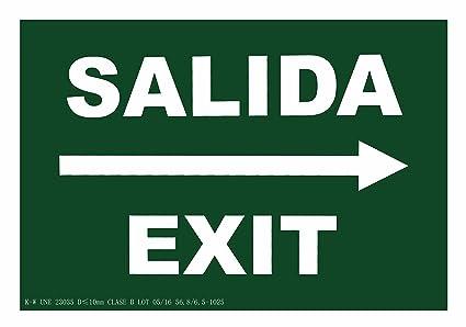 CIEFU-Cartel de Salida Exit a la derecha Señalizacion ...