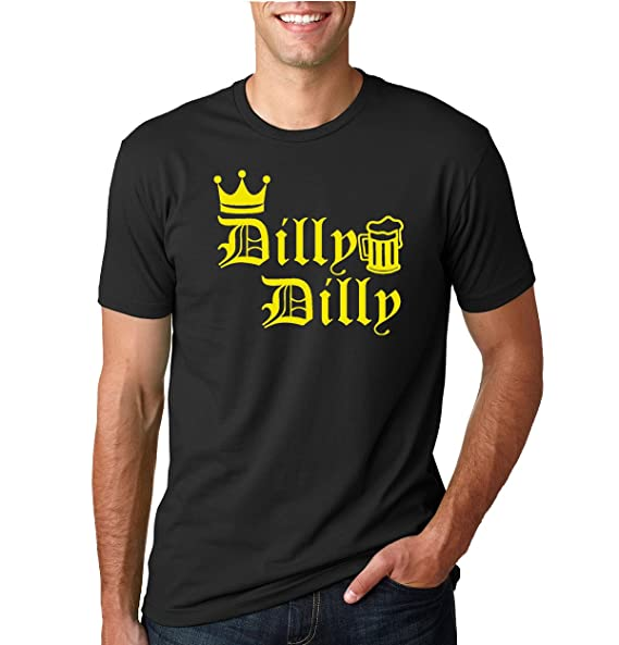 825d3456 Image Unavailable. Image not available for. Color: Wild Bobby Dilly Dilly  Yellow Crown | Mens Pop Culture Tee Graphic T-Shirt,