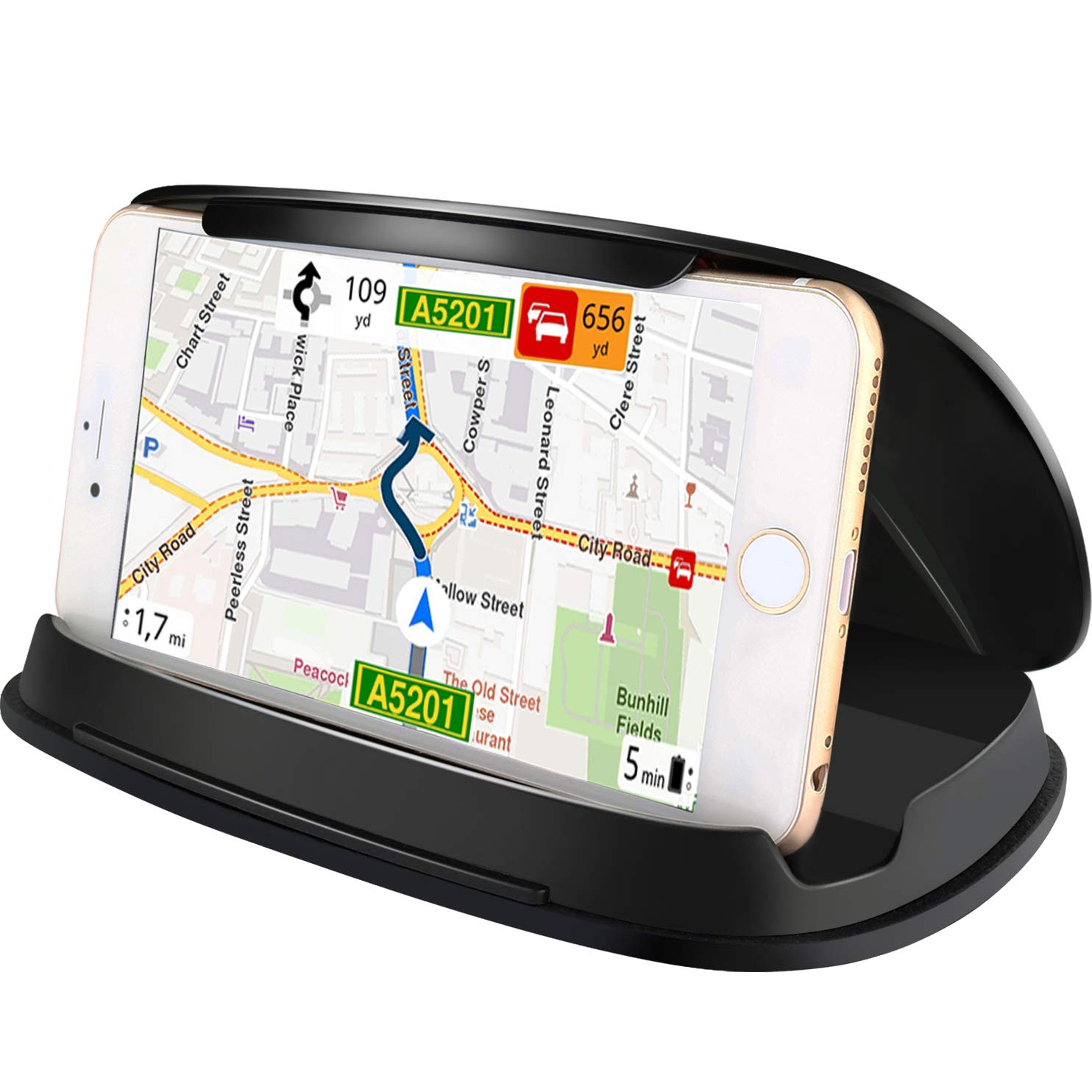 7//7 Plus Schwarz Universal-Armaturenbrett GPS Halterung f/ür iPhone 8 X 6 6Plus und andere 3,0-6,8 Zoll Smartphones und Navigation Note 8 Autotelefonhalter f/ür Samsung Galaxy S8