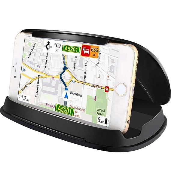 Soporte de coche para Samsung Galaxy S8, soporte universal de GPS para tablero de coche para iPhone 7, 7 Plus, 6, 6 plus y otros 7,6 cm- 17,2 cm, ...