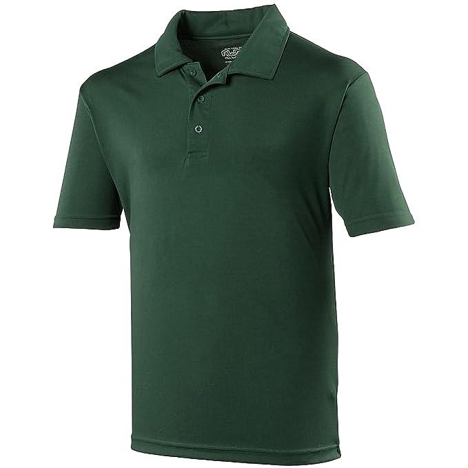 dd2e2402a09d Just Cool Herren Polo-Shirt Sports XXL,Flaschengrün  Amazon.de ...